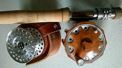 Mulinello pesca a mosca in radica -fly reel wood