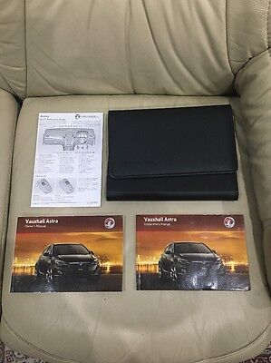 Vauxhall Astra Owners Manual Handbook Pack 2010-2015