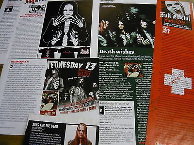 Wednesday 13 - Magazine Cuttings Collection (Ref Z)