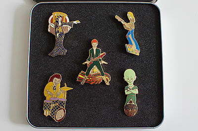David Bowie Ziggy Stardust badges/pin set designed & signed by George Underwood