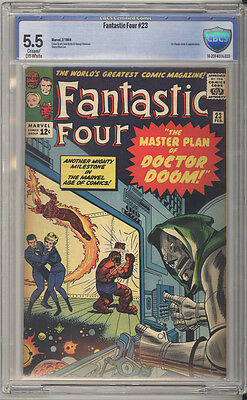 Fantastic Four # 23  The Master Plan of Dr.Doom !  CBCS 5.5 scarce book !