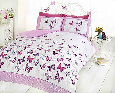 Flutter Butterfly Butterflies Pink Girls Childrens Bedding Quilt Set Duvet Cover