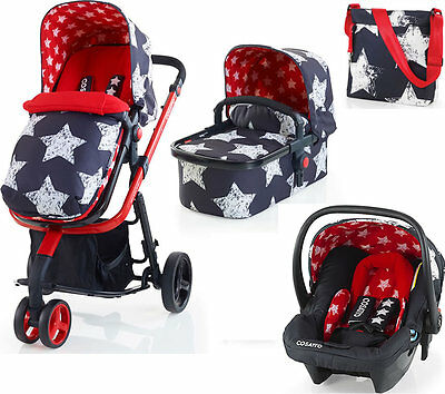 New Cosatto giggle 2 3 in 1 travel system hipstar free car seat bag & footmuff