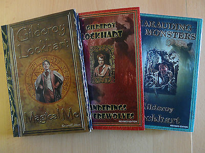 Harry Potter - Gilderoy Lockhart Set of 3 NOTEBOOKS & Dust Jackets: Lot 1