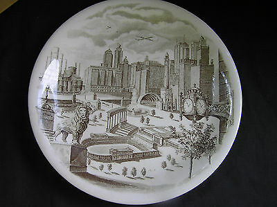 """Vintage Chicago Souvenir Plate, Johnson Brothers for Marshall Fields & Co, 10"""""""