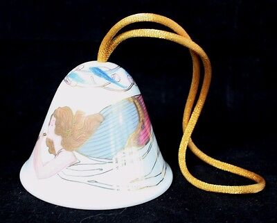Lladro Celestial Music Bell Christmas Ornament 2003 Angel Holiday Retired