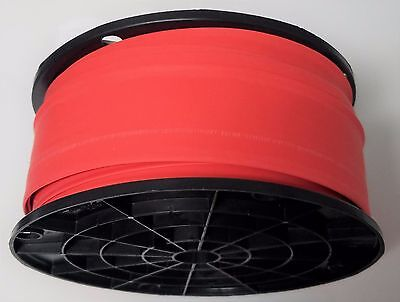 "100' Feet. RED 1"" Polyolefin 2:1 Ratio Heat Shrink Tubing"