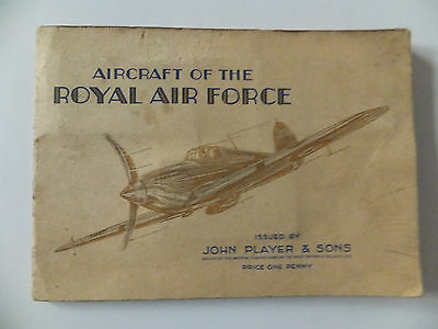 An album of cigarette cards: AIRCRAFT OF THE ROYAL AIR FORCE 1930's RAF