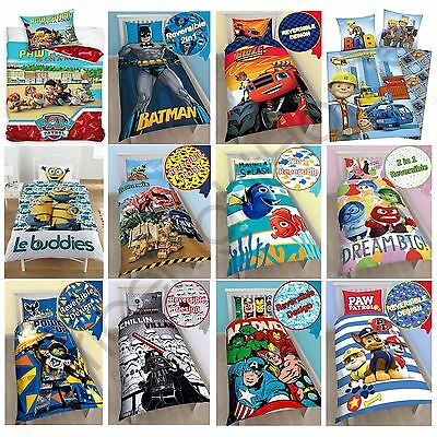 Character Single Duvet Cover Sets Boys Paw Patrol Marvel Thomas Wwe Star Wars