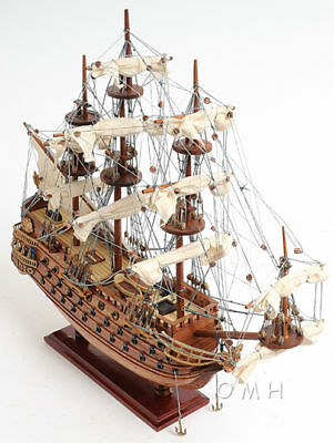 "Spanish San Felipe Tall Ship Wooden Model 19"" Sailboat Built Boat New"