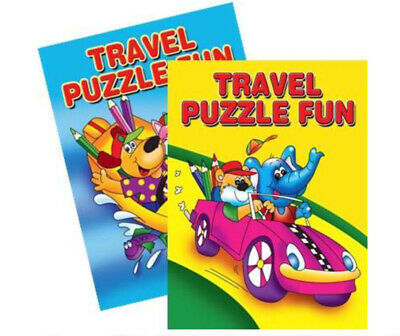 2 x CHILDRENS KIDS PUZZLE COLOURING ACTIVITY TRAVEL FUN BOOKS DOT TO DOT DRAWING