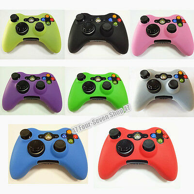 8 Color Joystick Gel Skin Silicone Cover for XBOX 360 Wireless Controller Case