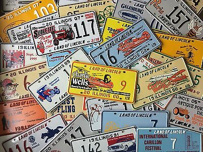 Vintage License Plates Lot of 50 Different Illinois Special Event Tag Car 9