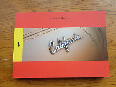 Ferrari California Owners Handbook/Manual
