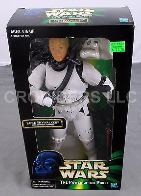 Star Wars PotF Luke Skywalker in Stormtrooper Gear w/ Dianoga Tentacle '98 NIB