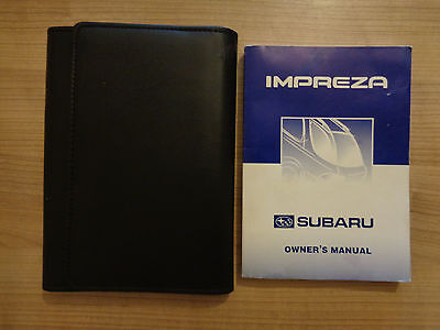 Subaru Impreza Owners Handbook/Manual and Wallet 95-00