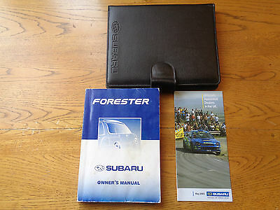 Subaru Forester Owners Handbook/Manual and Wallet 97-01