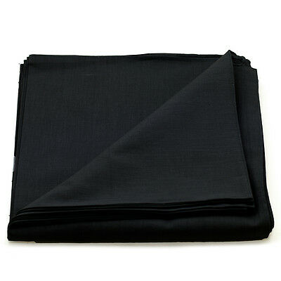 12 pieces(1dozen) Bandanas Head Wrap Scarf 100% cotton  PLAIN BLACK