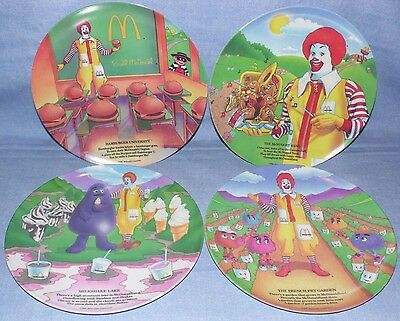 McDonald's Vintage  Collectible Melamine Plate Set of 4