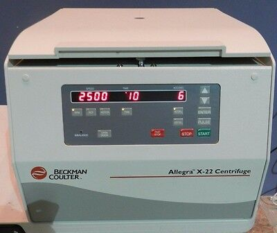 Beckman Coulter Allegra x-22 Centrifuge w/ Rotor Buckets