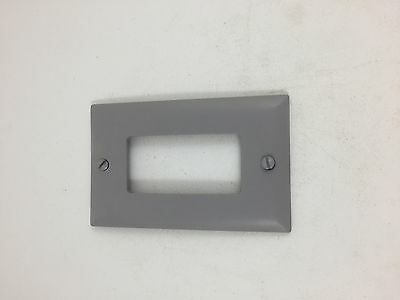 Legrand Lot of 3 Decorator Openings, One Gang, Gray TP26GRY