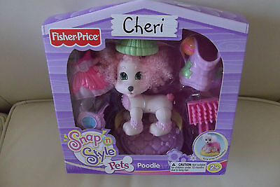 Fisher Price Dog Snap Style Pets Pet Poodle CHERI & Accessories