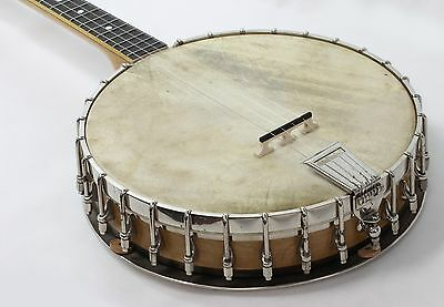 1920's Vega Fairbanks USA 4-String Stock Tango Little Wonder Tenor Banjo in OHSC