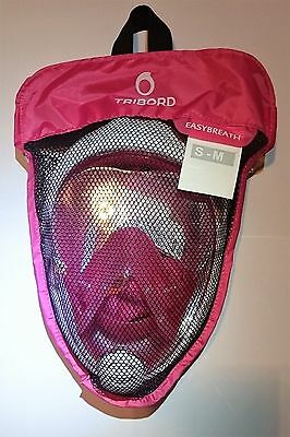 AUTHENTIC Tribord Easybreath Mask, PINK, size S/M, latest batch, BEAUTIFUL!!