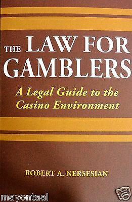 NEW! The Law for Gamblers by Bob Nersesian - casino game card counting blackjack