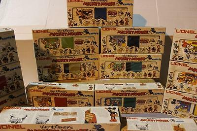 Mpc Lionel Disney Mickey Mouse Express Set - Complete- 15 Pieces -0/027 Scale