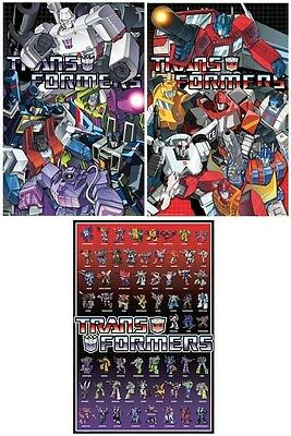 TRANSFORMERS ANIMATED ~ SET OF 3 POSTERS ~ 24x36 ~ Autobots Decepticons