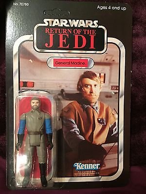 Vintage Star Wars Carded General Madine 65 Back Unpunched