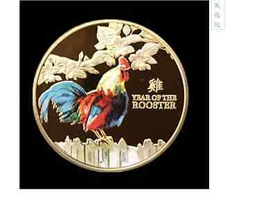 2017 Year of the Rooster Gold Coin