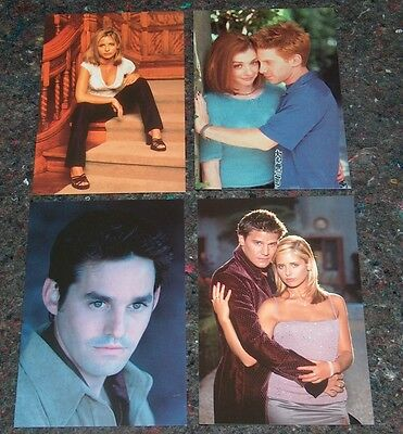 4X Buffy The Vampire Slayer - Post Cards - Angel - 1999 - Collection 2