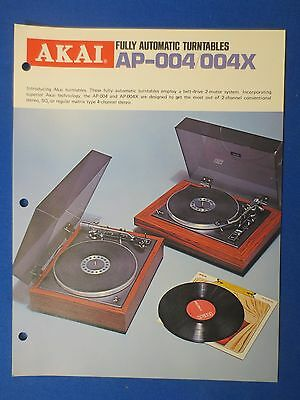 Akai Ap-004 X Turntable Sales Brochure Original Factory Issue The Real Thing