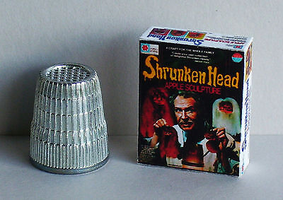 Dollhouse Miniature 1:12 Vincent Price Shrunken Head Kit Box 1970s Haunted House