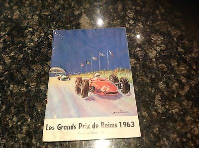 1963 French Grand Prix Programme At Reims