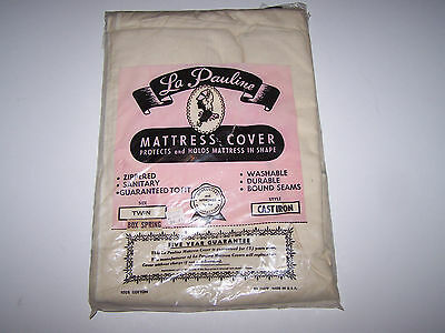 Vintage La Pauline Mattress Cover Twin Size Cast Iron Style *new Old Stock*
