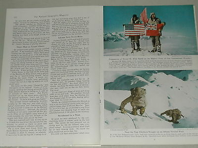 1948 magazine article on climbing Mt Saint Elias Alaska-BC mountaineering