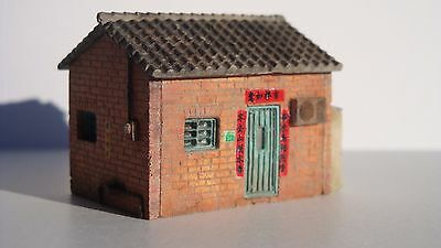 Little Red Brick House - N Scale - Hand Cast in Hydrostone