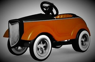 Pedal Race Car Racing 1930s Ford Hot Rod Rare Vintage Midget Metal Model