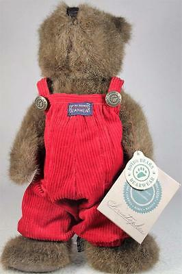 Boyds Bears Plush 'Christopher' From The Investment Collection-Red Overalls!
