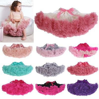Baby Girl Pettiskirt Toddler Infant Tulle Chiffon Tutu Dance Party Skirts 0-24Mo