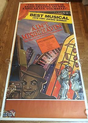 """AIN'T MISBEHAVIN' "" ORIGINAL 1978 3 SHEET BROADWAY POSTER 41""x83"" RARE!"
