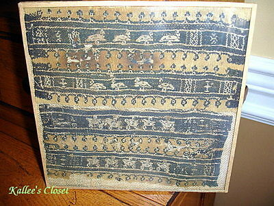 *GLASS FRAMED* VINTAGE COPTIC EGYPTIAN GRAVE CLOTH 5th-6th CENTURY A.D.