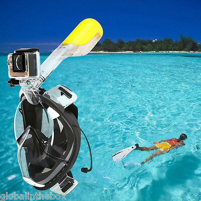 FOR GOPRO Easybreath SNORKELING MASK FULL FACE SCUBA SNORKEL Snorkelling L/XL