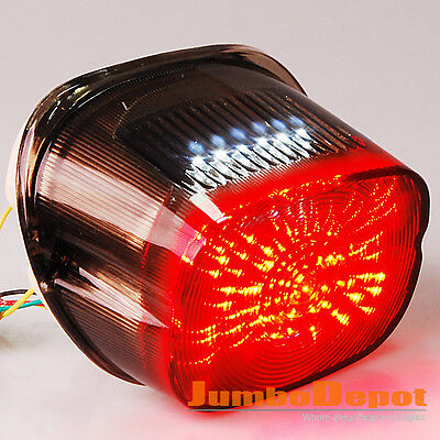 AU Smoke LED Integrated Taillight Turn Signal Lamp For Harley Softail Dyna Glide