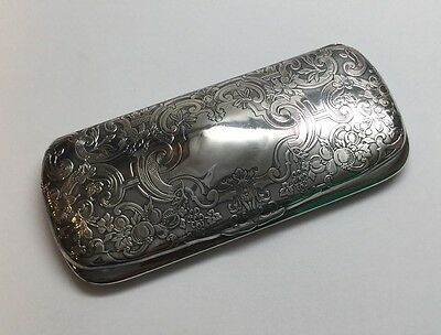 Antique Reed & Barton Sterling Silver Repousse Eye Glass Case