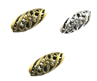 6/30pcs Retro Antique Metal Alloy hollow out FLOWER Spacer Beads Jewelry Making