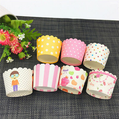 50x Cute Cartoon Paper Cupcake Liner Cake Case Muffin Baking Cup Birthday Party